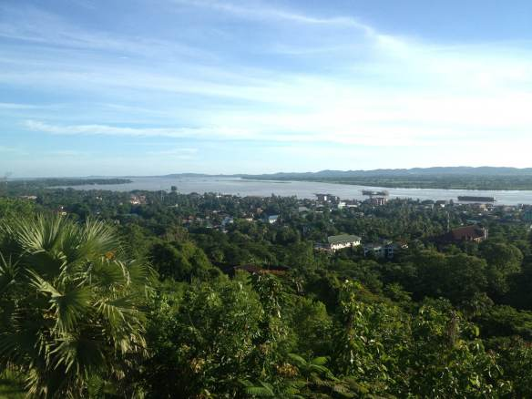 On my running route, overlooking the city of Mawlamyine
